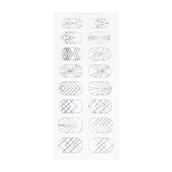 Nail Art Sticker silver lines